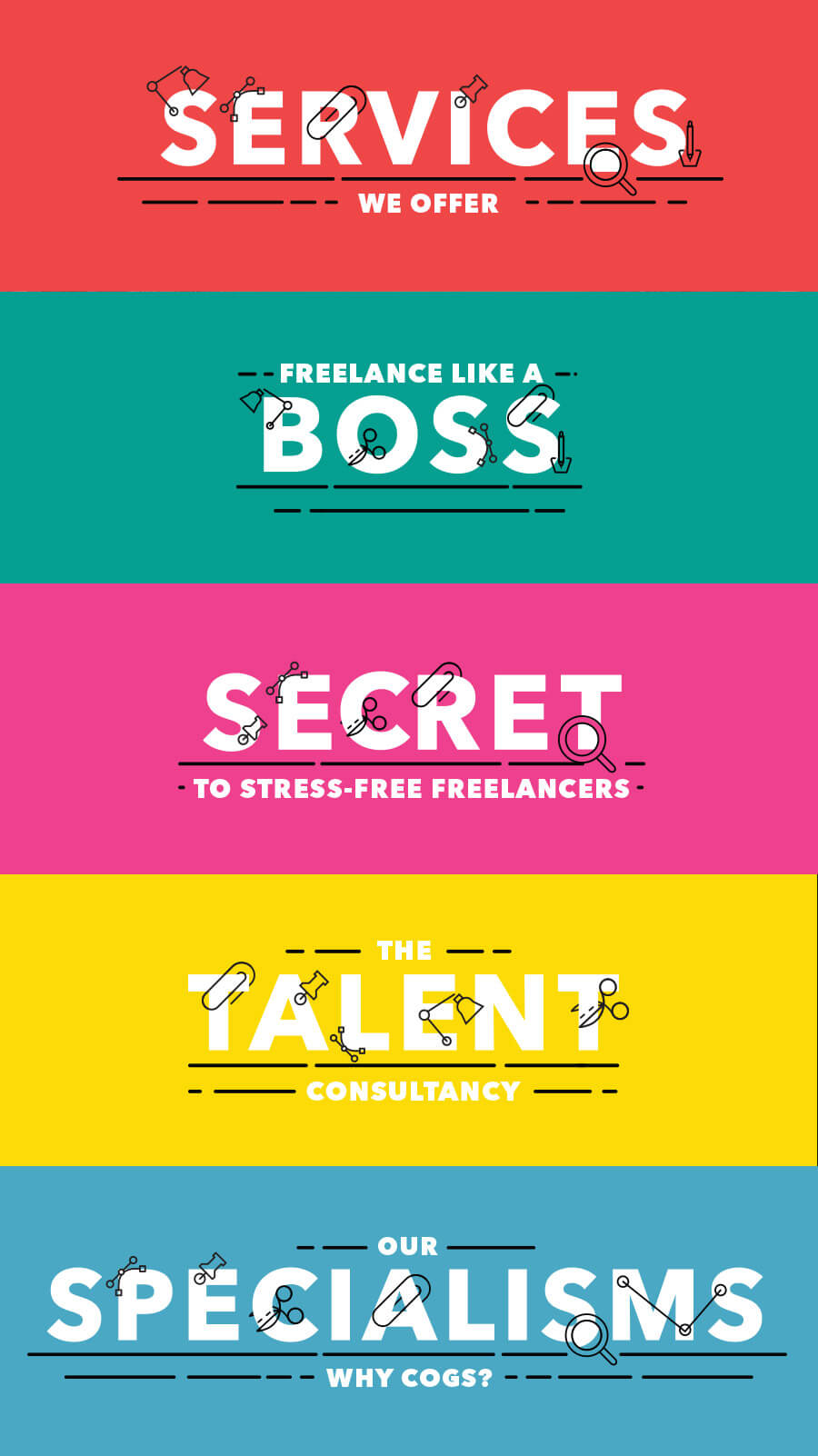 Cogs Agency Freelance Jobs Graphics - Ahoia Digital