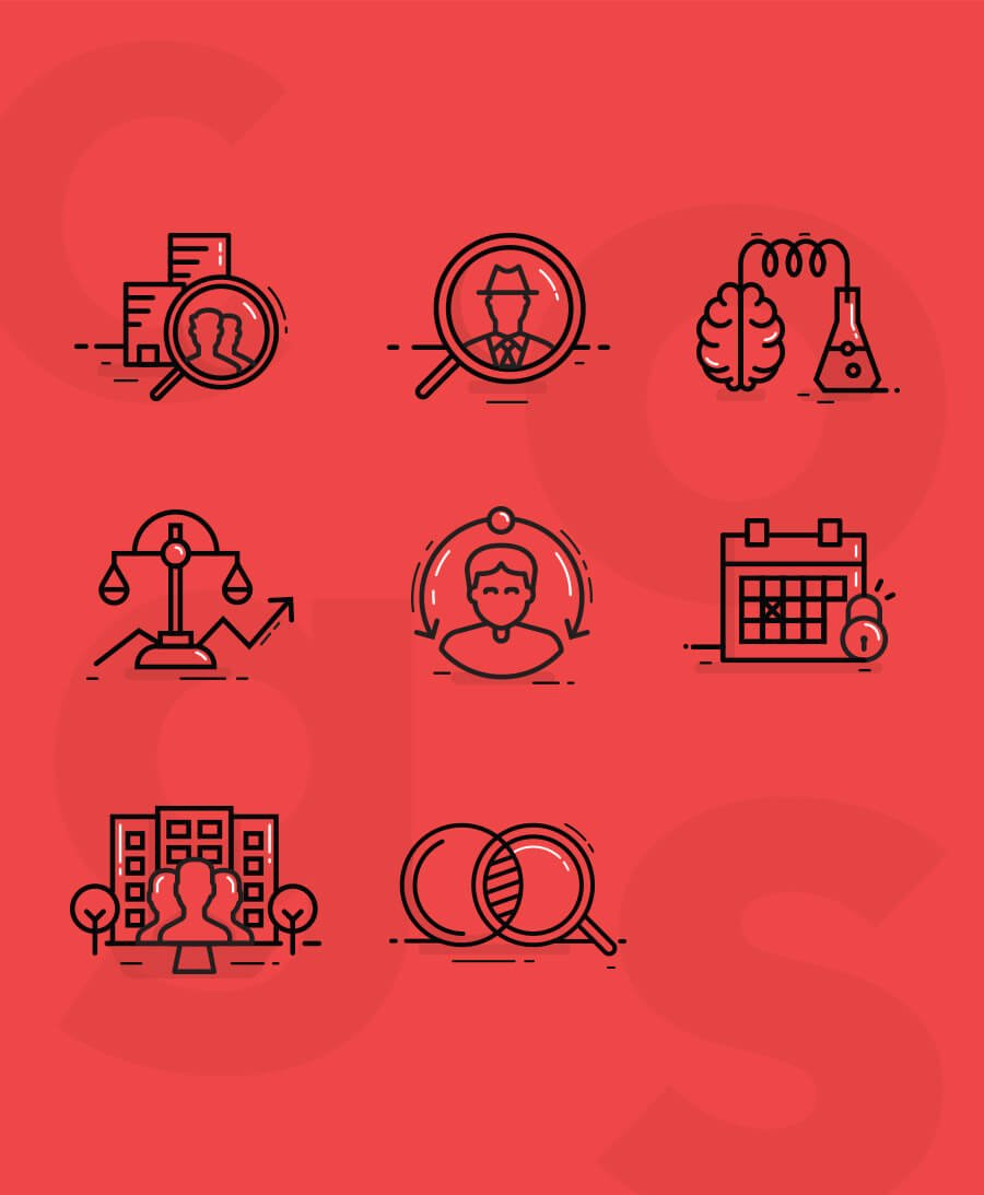 Cogs Agency Recruitment Icons - Ahoia Digital