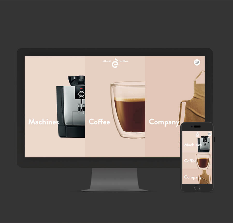 Awesome Coffee Website Design - Ahoia Digital