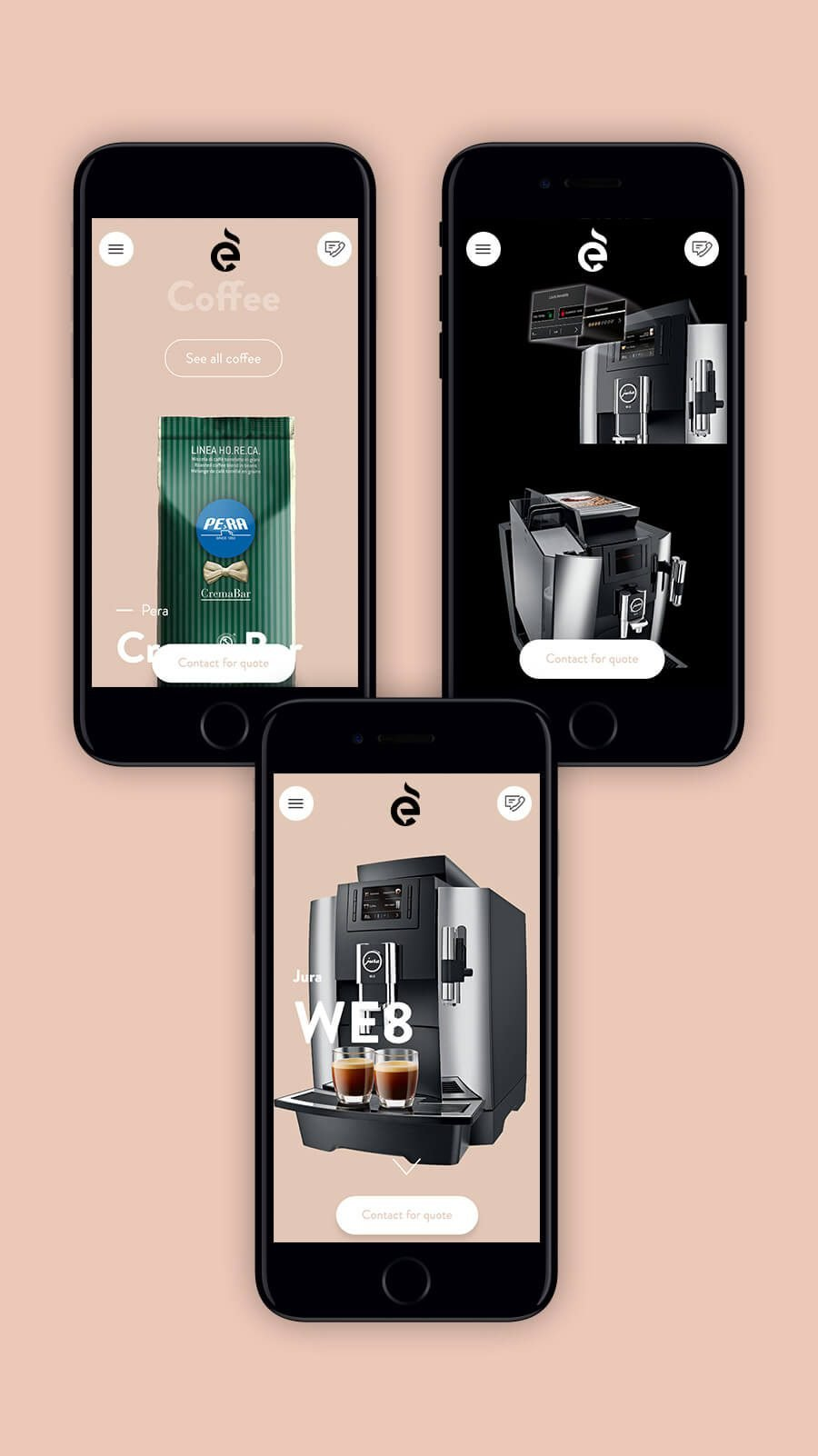 Ethical Coffee Mobile Website Design - Ahoia Digital
