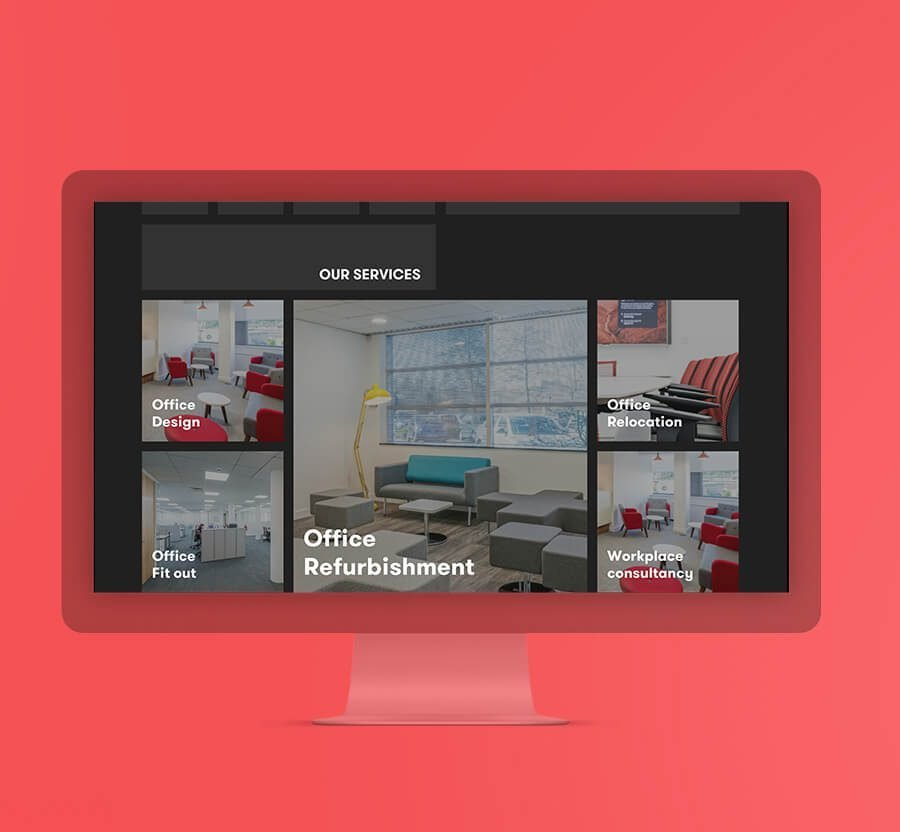 Office Fit-outs Website Design - Ahoia Digital