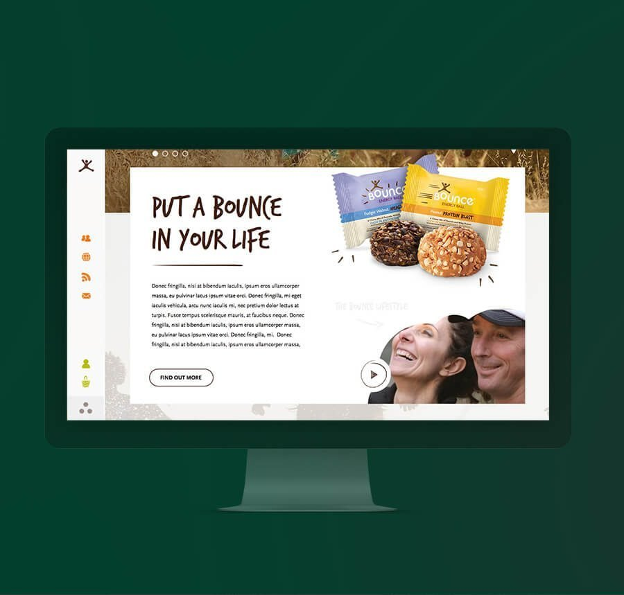 Landing Page Food Product Design - Ahoia Digital